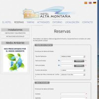 Increate Diseño Web - web corporativa hotel rural  Alta Montaña Reservas