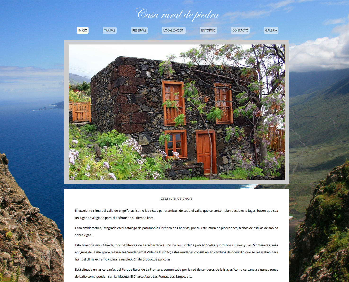 Increate diseño web Tenerife Diseño web Casa Rural de Piedra
