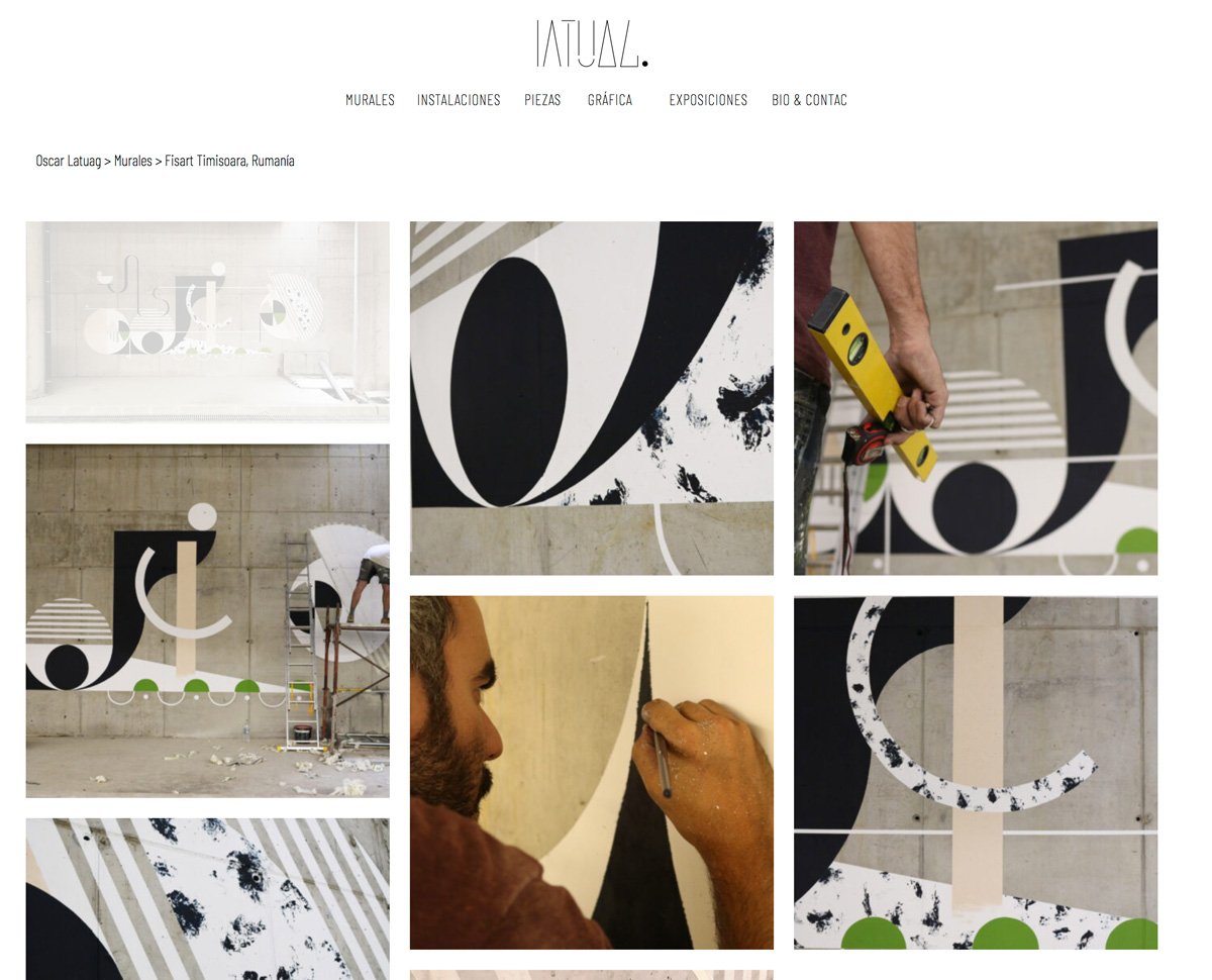Increate diseño web tenerife - diseño portafolio web Oscar Latuag masonry 2