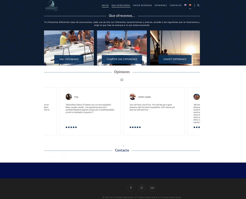 Increate diseño web tenerife - Portafolio de webs - Tienda y E-commerce arriroboat 6