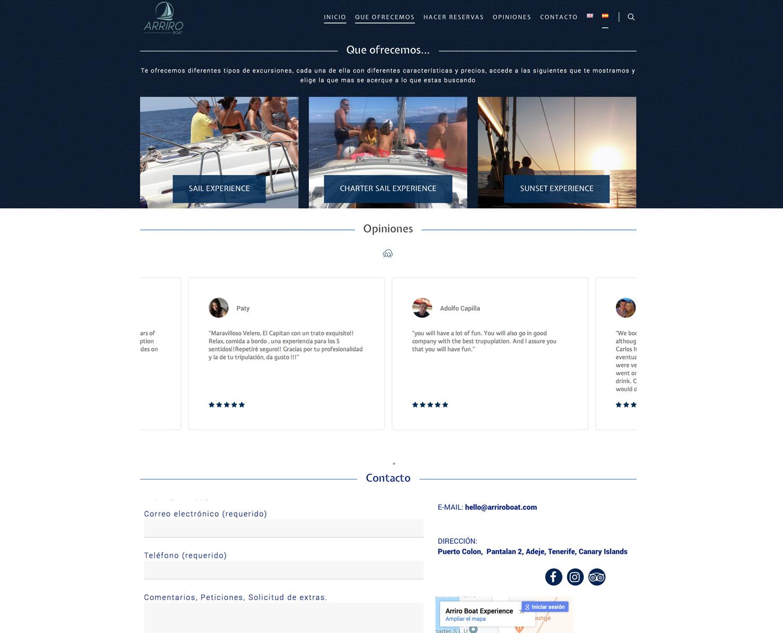 Increate diseño web tenerife - Portafolio de webs - Tienda y E-commerce arriroboat